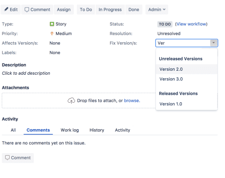 Ship It: Release Management in Jira and Confluence, Set Fix Version