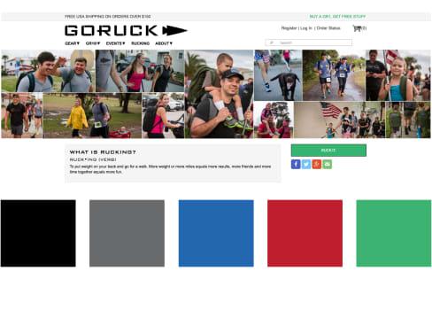 Designing the GORUCK App: website