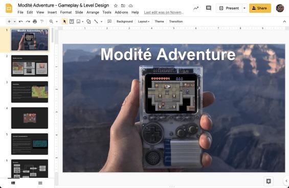 Modite Adventure Develoment Mock
