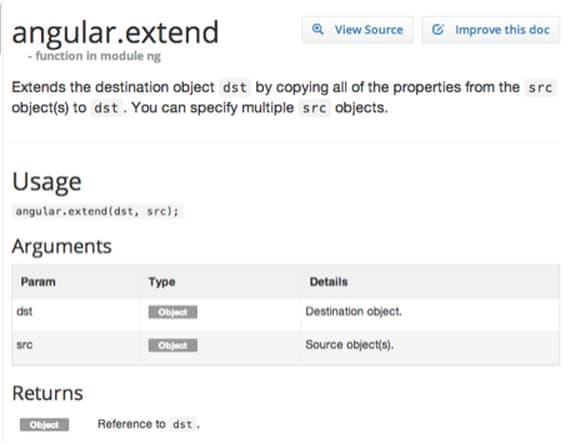 AngularJS: Tricks with angular.extend()