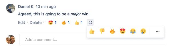 Emoji responses