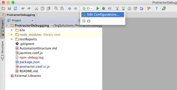 create a new Run/Debug Run Configuration