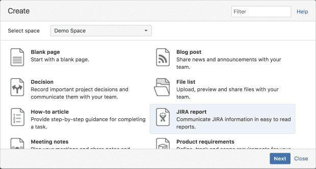Ship It: Release Management in Jira and Confluence, Create Confluence Page