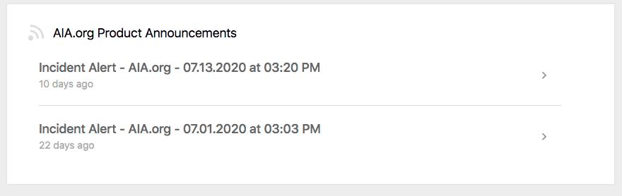 Confluence Portal Announcements
