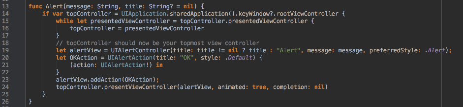 Wrapping UIAlertController