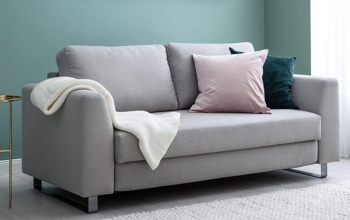 graues 2- bis 3-Sitzer-Sofa