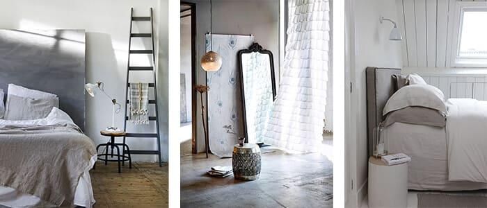Verschiedene gemütliche und helle Schlafzimmer