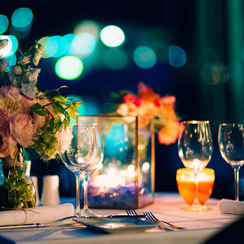 Romantik pur: ein Candle Light Dinner zuhause