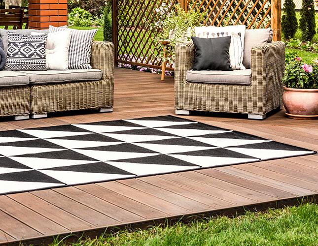 Outdoor-Teppiche für Balkon und Terrasse