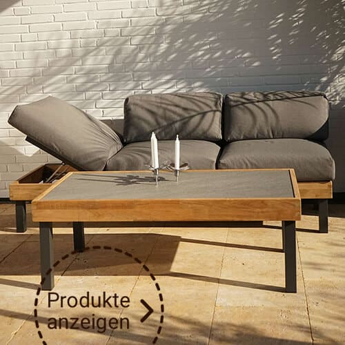 Loungemöbel Holz mittelbraun