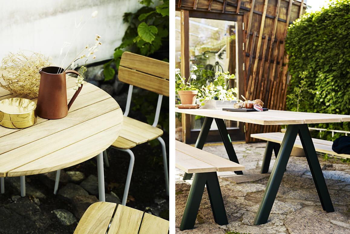 Holzmöbel für kleine Balkone