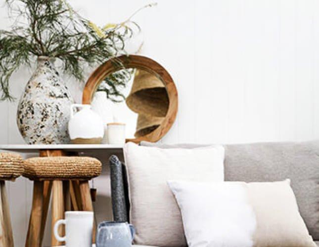 Gemütliches Wohnzimmer mit Feng Shui