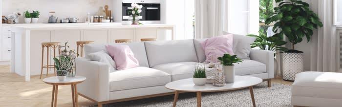 Modernes Wohnzimmer im Skandi-Stil