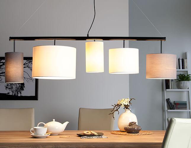 Optimale Beleuchtung über dem Esstisch