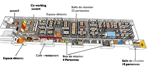 espace partagé d'une capacité de 10 personnes à Boulogne-Billancourt