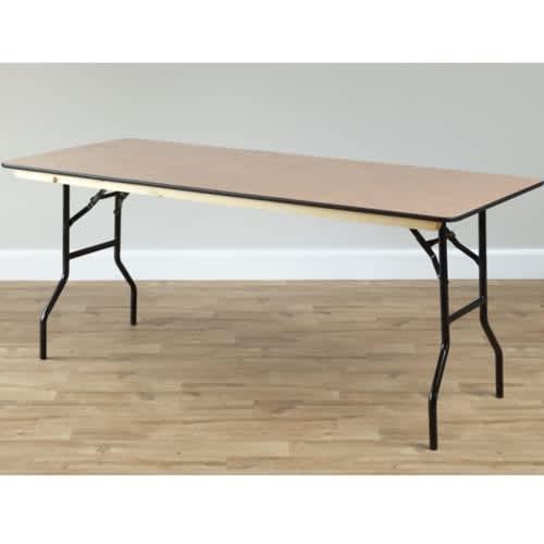 rectangular wooden trestle table 1830 x 760mm 6 x 2 6