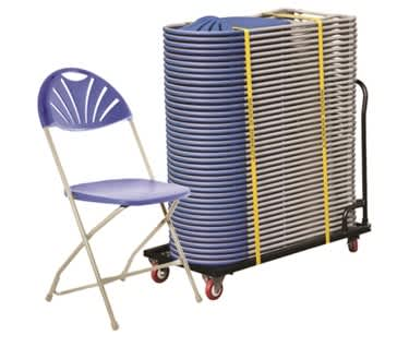 Classic Plus Fan Back 40 Folding Chair Bundle