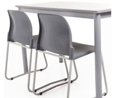Masterstack Skid Base Poly Chair