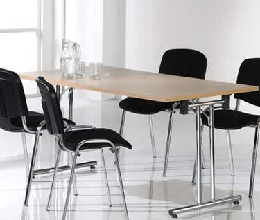 Rectangular Straight Leg Folding Meeting Table