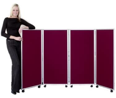 Mobile Concertina Screen | 1200mm high | Nyloop Fabric