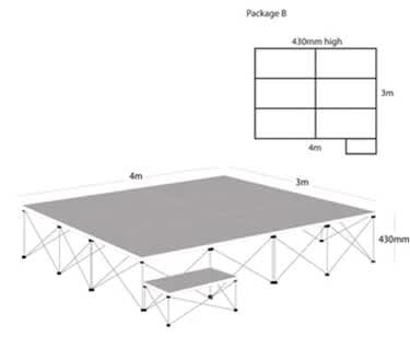 Ultralight Stage Package B (4m x 3m)