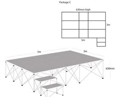 Ultralight Stage Package C (5m x 3m)