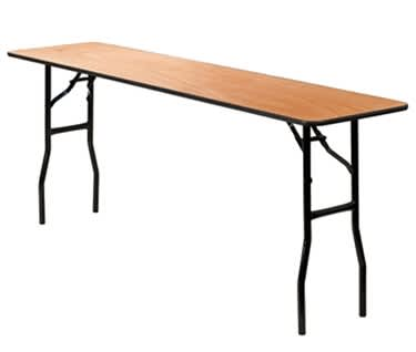 Slim Rectangular Wooden Trestle Table | 6ft x 1ft  6in (1830mm x 460m)