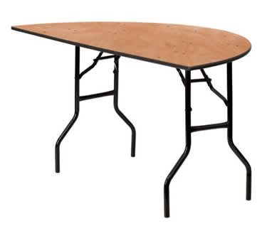 Semi-Circular Wooden Trestle Table, Dia1530mm (5')