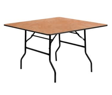 "Square Wooden Folding Trestle Table | L760 x W760mm (2'6"" x 2'6"")"