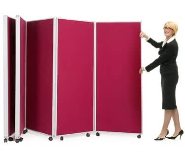 Mobile Concertina Screen | 1500mm high | Nyloop Fabric