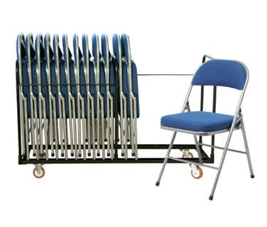 Comfort Deluxe 18 Folding Chair Bundle | 18 Folding Chairs & Trolley