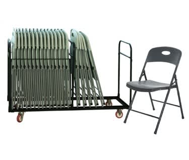 Smart Folding Chair Bundle | 28 Folding Chairs & Trolley