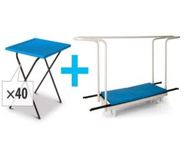 Titan 40 Poly Exam Desk Bundle