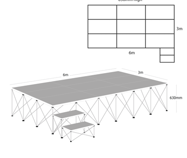 Ultralight Stage Package D (6m x 3m)