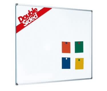 Magnetic Coated Steel Double Sided Whiteboard | Aluminium Frame