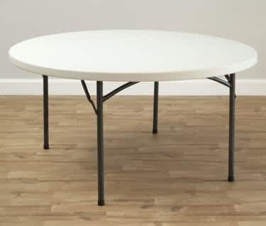 5ft Round Plastic Folding Table | Dia. 1530mm | 5'