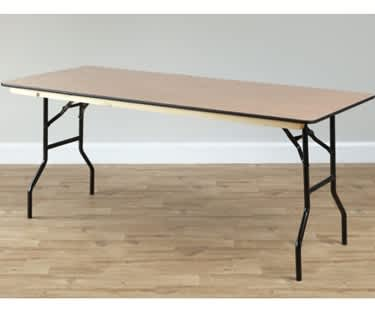 Rectangular Wooden Trestle Table, 1830 x 920mm (6' x 3')