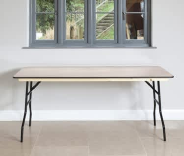 "Rectangular Wooden Trestle Table, 1830 x 760mm (6' x 2'6"")"
