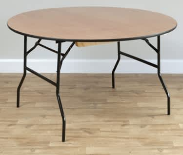 Round Wooden Trestle Table, Dia1830mm (6')
