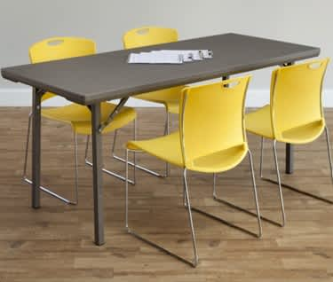 Rectangular Premium Folding Table, 1220 x 760mm