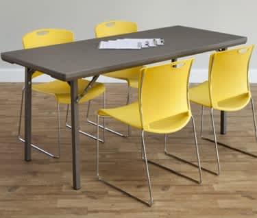 Rectangular Premium Folding Table, 1220 x 760mm