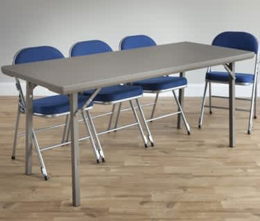 Rectangle Folding Banqueting & Trestle Table | 6ft x 2ft 6in (1830 x 760mm) | Premium