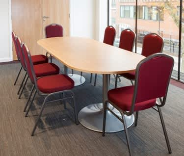 Radial End Trumpet Base Boardroom Table