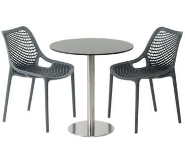 Carmona Anthracite Café Table