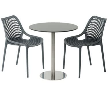 Carmona Anthracite Café Table