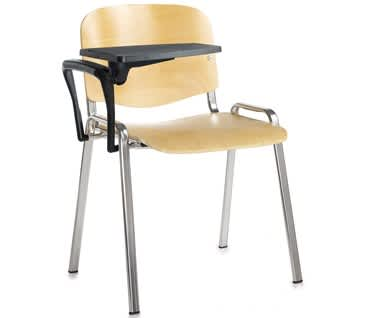 Austin Beech Chair with Writing Tablet