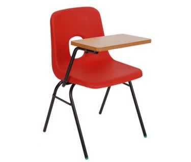 Series E Chair with Writing Tablet by Hille