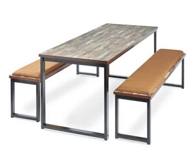 Otto Low Bench with upholstered seat pad