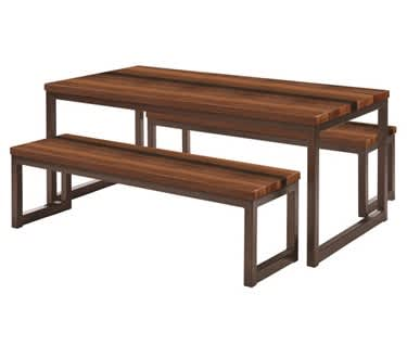Olsen Walnut Table & Bench Set