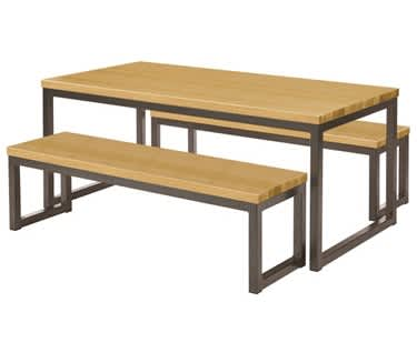 Olsen Oak Table & Bench Set